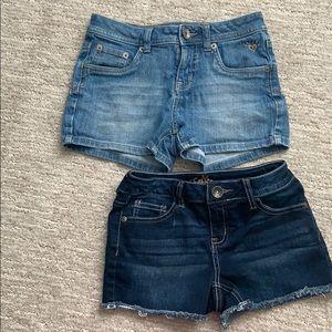 Justice Jeans Shorts Bundle